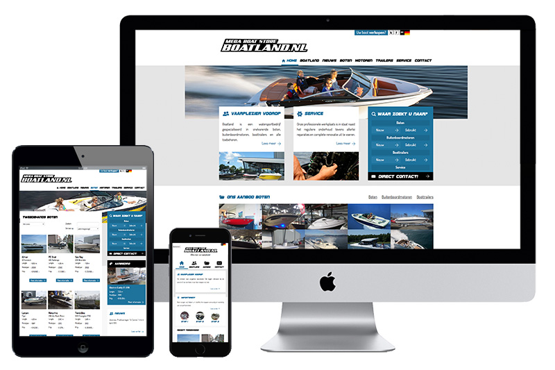 Online showroom - #Website# Boatland