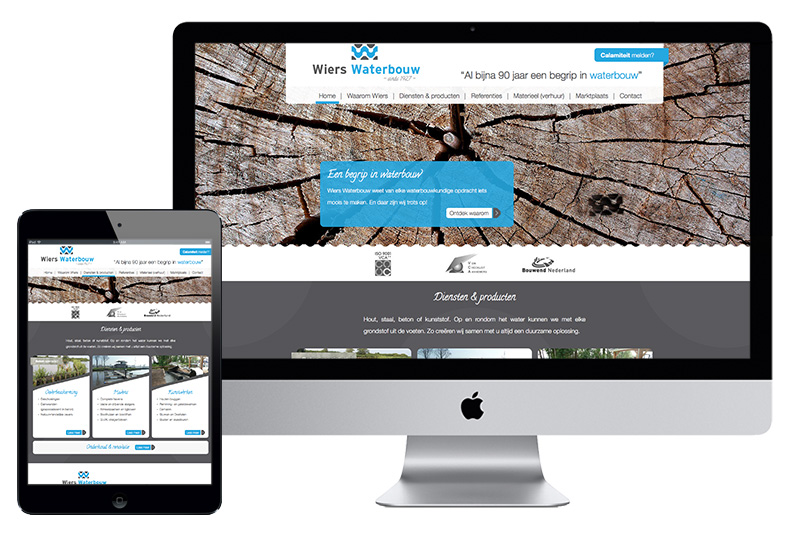 Website - Wiers Waterbouw